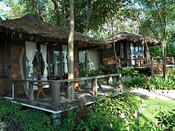 Privaate, ruime bungalows in het Ko Kood resort